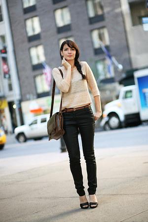 black somewhere pants - H&M suit