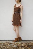 chiffon Estherfromthesticks dress - brown Thirtfed belt