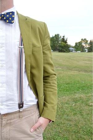 green H&M blazer