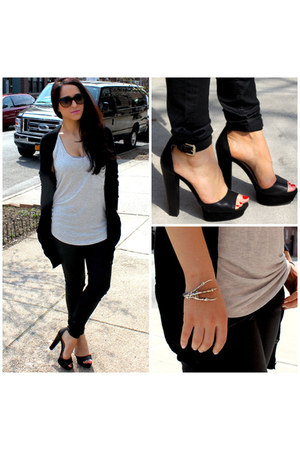 black Zara shoes - black Alexander Wang sweater - silver Joe Fresh top