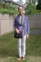 shirt - Jules and James scarf - Element jeans - purse - Gap shoes - Aldo accesso