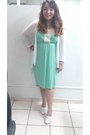 White-baltarini-shoes-aquamarine-random-brand-dress