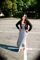 gray Heritage 1981 dress - black Forever 21 cardigan - black Soda shoes