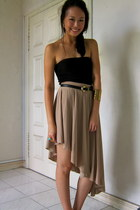 nude asymmetric ThreadTheory skirt