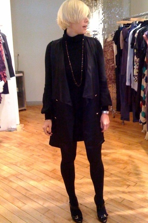 Rodebjer vest - Theory dress - Wolford tights - Giuseppe Zanotti shoes - Chanel