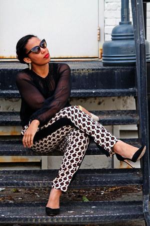 vintage purse - Zara shoes - vintage sunglasses - Arden B blouse - asos pants