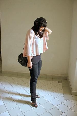 pink Topshop top - black online shoes - black Factory Outlet Bandung jeans