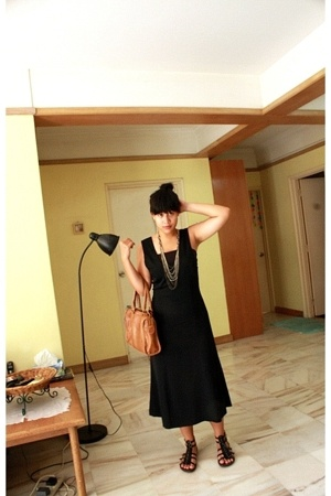 LapSap Junkyard dress - Bali shoes - bijou bazaar purse - FOS necklace