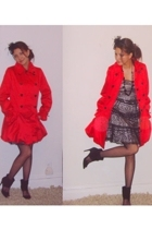 Betsey Johnson jacket - H&Mm accessories - Morgan & co dress - Zara shoes