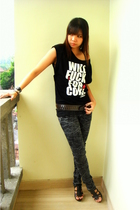 Gaudi t-shirt - pink label jeans - shoes