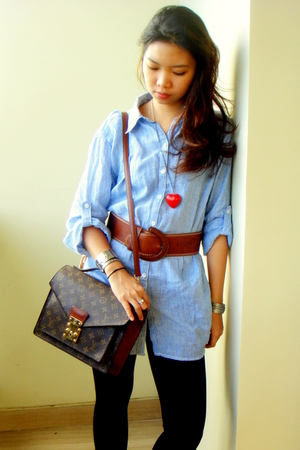H&M shirt - Topshop belt - China necklace