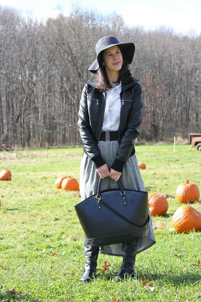 black Zara bag - jersey StyleMint skirt