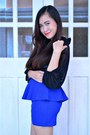 Black-sheer-top-forever-21-top-blue-peplum-usso-skirt