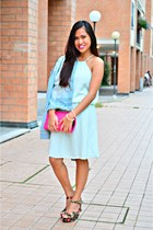 Forever 21 wedges - Bazaar dress - Terranova jacket - Rags2Riches bag
