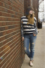 Blue-boyfriend-aeropostale-jeans-heather-gray-striped-forever-21-sweater