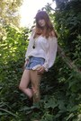 Lace-charlotte-russe-shorts-boots-pocketwatch-necklace-sheer-pirate-blouse
