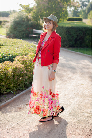 cream AX Paris dress - hot pink Sheinside jacket