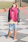 Black-ebay-jacket-sky-blue-lana-del-rey-for-h-m-leggings-hot-pink-h-m-scarf