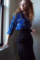 blue Ralph Lauren blouse - black fancy clothing skirt