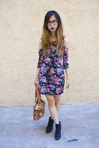 Urban Outfitters dress - B Makowsky bag - Urban Outfitters wedges