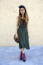 Green-urban-outfitters-dress-red-jeffrey-campbell-wedges