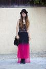 Black-asos-hat-black-akira-chicago-bag-black-american-apparel-bodysuit