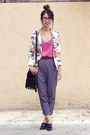 Zara-blazer-unknown-bag-american-apparel-blouse-american-apparel-heels