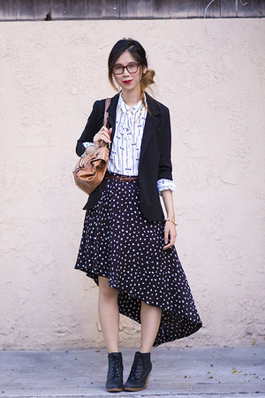 black Urban Outfitters skirt - black Urban Outfitters blazer