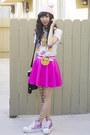 Bubble-gum-unif-shoes-light-pink-glitter-bandits-hat-white-hot-topic-shirt
