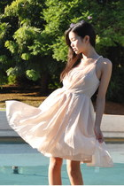 peach H&M dress
