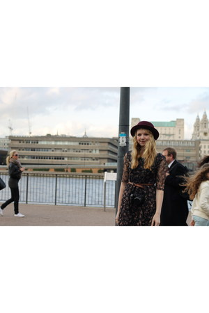 bowler hat H&M hat - Primark dress