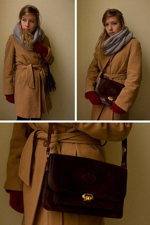 house of vintage bag - H&M gloves - vintage coat - Pimkie scarf