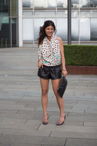 scarf Lefties top - suiteblanco shorts - Primark heels
