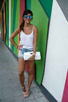 silver Lefties sandals - Bershka shirt - Bershka shorts