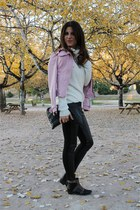 Stradivarius jacket - suiteblanco boots - Zara leggings