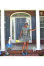 Blue-dress-blue-forever-21-sunglasses-blue-bakers-shoes-white-scarf