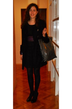 purple SIX bracelet - Carpe Diem dress - Madonna coat