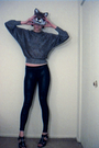Silver-fashionmonger-vintage-sweater-black-express-leggings-black-nine-west-