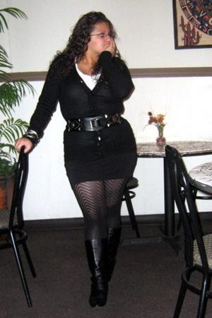 skirt - tights - jacket - shirt - accessories - belt