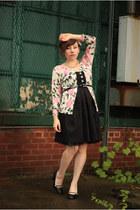 nicole miller cardigan - vintage dress - Target heels