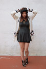 Dark-gray-brandy-melville-dress-cream-forever-21-sweater