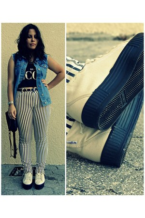 Levis shoes - Stradivarius pants - pull&bear top