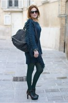 black pandora leather Givenchy bag - dark gray ankle boots Fabi boots