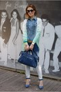 Blue-ruffled-denim-silvian-heach-shirt-blue-denim-ombre-zara-pants