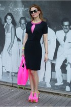 black jasmine di milo dress - bubble gum neon pink Nina Ademar bag
