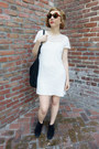 Gili-aldo-boots-cotton-gauze-thrifted-vintage-dress-mod-vintage-sunglasses