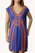 Bold &amp; Blue Embroidered Dress