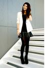 Black-ankle-boots-forever-21-boots-white-forever-21-blazer