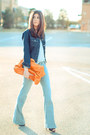 Light-blue-sold-design-lab-jeans-navy-denim-gap-jacket-orange-melie-bianco-b