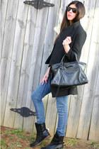 balenciaga bag - Matt Bernson boots - romwe coat